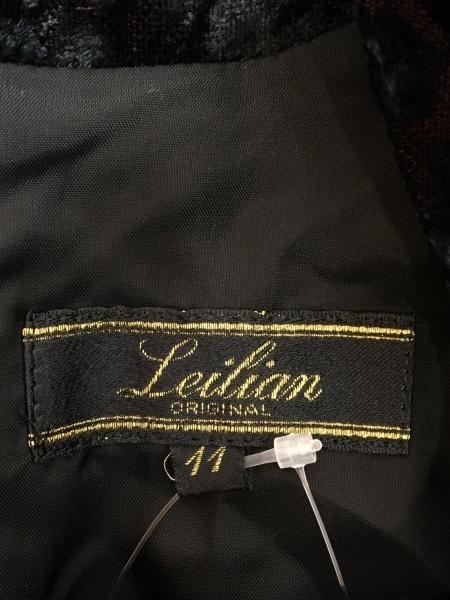 Leilian(レリアン) ワンピース サイズ11 M レディース 黒 ベロア