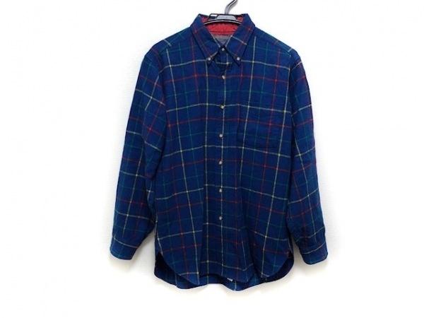 PENDLETON(ペンドルトン) 長袖シャツ サイズM メンズ ネイビー×イエロー×マルチ
