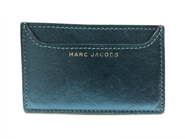 MARC JACOBS(マークジェイコブス) カードケース ネイビー レザー