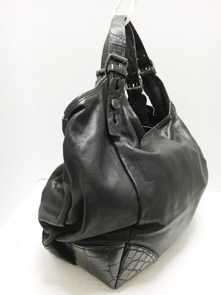 GIVENCHY(ジバンシー) トートバッグ - 黒×ダークブラウン 型押し加工 レザー