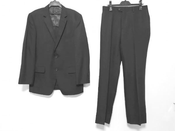 メンズティノラス シングルスーツ サイズL メンズ 黒 ストライプ/3点セット
