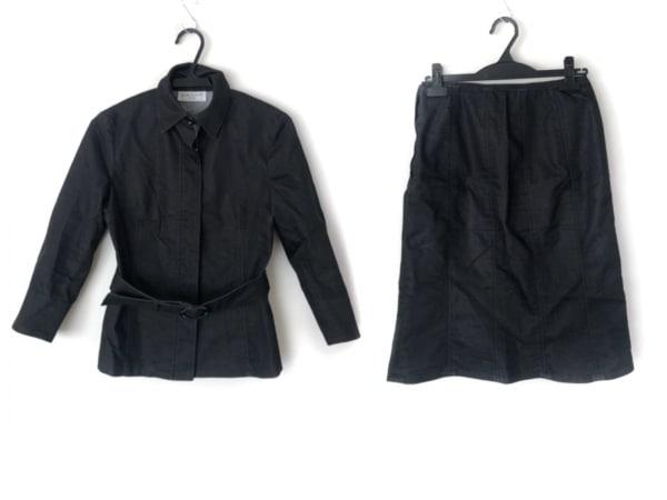 組曲 KUMIKYOKU(クミキョク) スカートスーツ サイズ1 S レディース 黒 sis