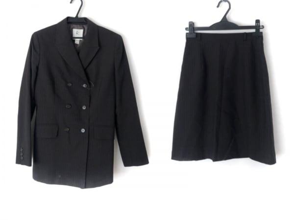 クミキョク スカートスーツ サイズ2 M レディース美品  ダークブラウン×マルチ