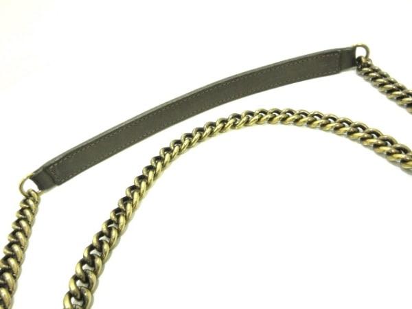 シャネル ショルダーバッグ マトラッセ グレージュ チェーンショルダー/ゴールド金具