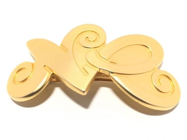 NINARICCI(ニナリッチ) バレッタ 金属素材 ゴールド