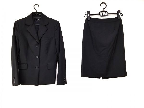 INDIVI(インディビ) スカートスーツ サイズ38 M レディース 黒 3点セット