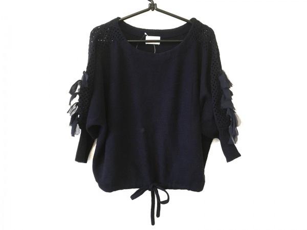 Re.Verofonna(ヴェロフォンナ) 七分袖セーター サイズ38 M レディース ネイビー