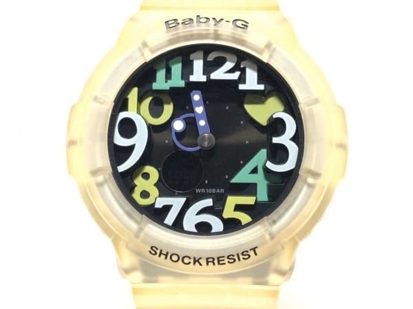 CASIO(カシオ) 腕時計 Baby-G BGA-131 レディース ラバーベルト 黒×マルチ