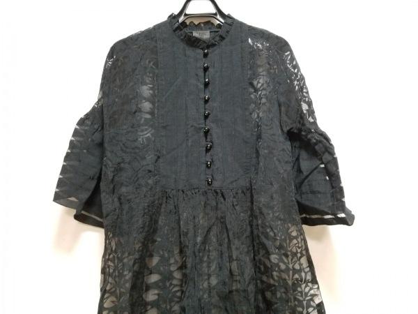 ANNA SUI(アナスイ) ワンピース サイズS レディース 黒 フリル/シースルー