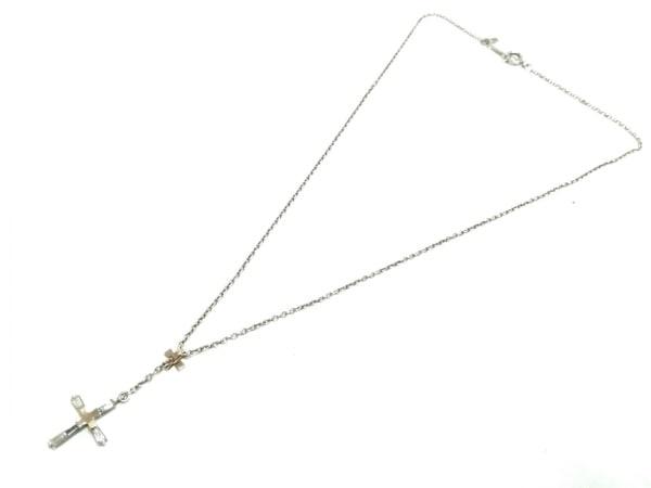 STAR JEWELRY(スタージュエリー) ネックレス美品  シルバー×K14YG クロス