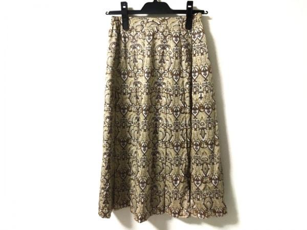 バーバリーズ スカート サイズ9 M レディース美品  ベージュ×ライトブラウン×マルチ