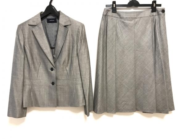 ニューヨーカー スカートスーツ サイズ13 L レディース美品  チャコールグレー