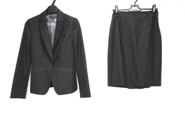 INDIVI(インディビ) スカートスーツ サイズ5 XS レディース ダークネイビー×グレー