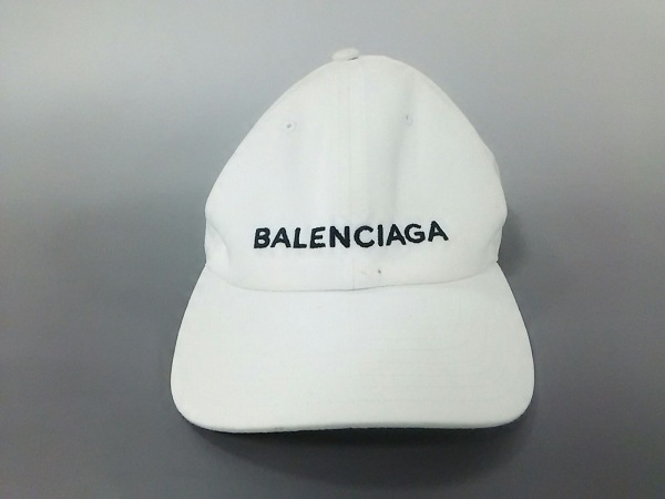 BALENCIAGA(バレンシアガ) キャップ 白×黒 コットン