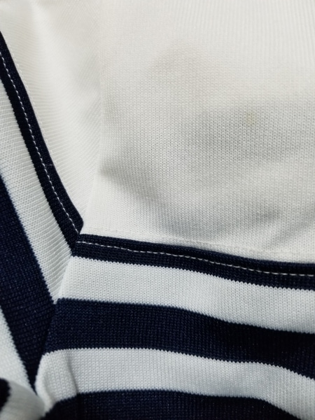コムデギャルソン 長袖カットソー サイズS レディース美品  白×ネイビー ボーダー