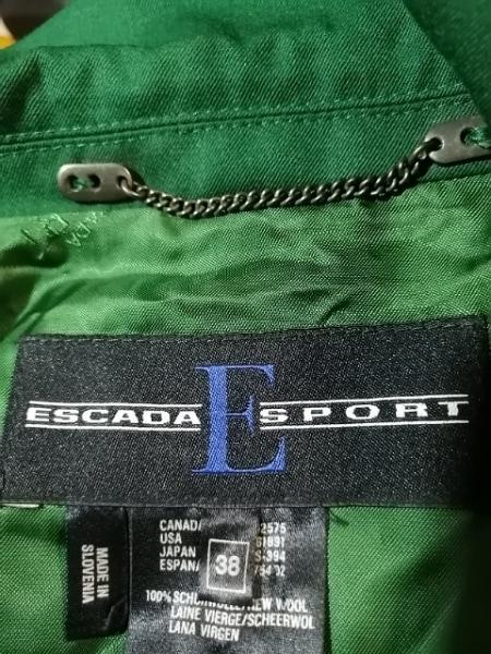 ESCADA(エスカーダ) ジャケット サイズ38 L レディース グリーン×白×マルチ