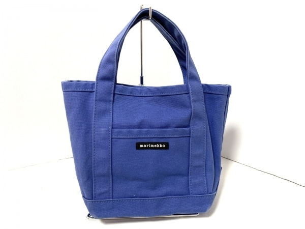 marimekko(マリメッコ) トートバッグ ブルー ミニサイズ キャンバス