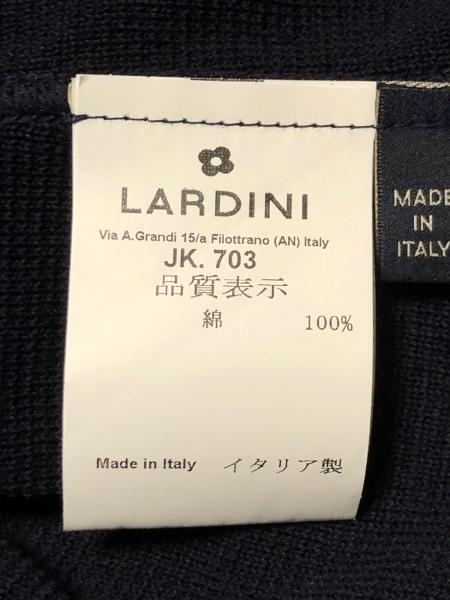 ラルディーニ ジャケット レディース美品  ダークネイビー ノッチドラペル/ニット