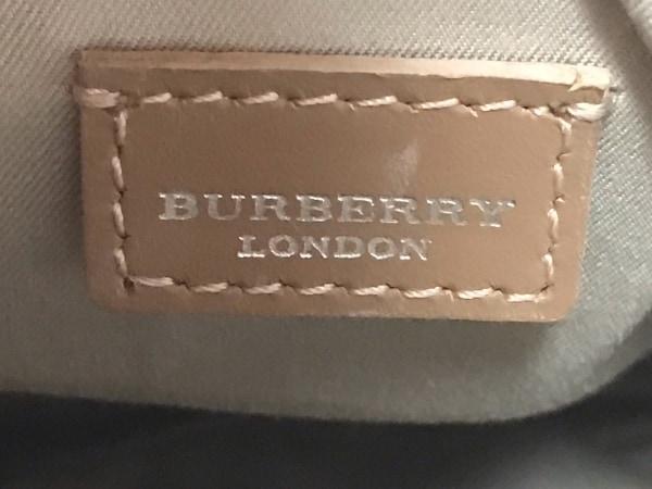 バーバリーロンドン ショルダーバッグ ピンク×ベージュ×マルチ チェック柄