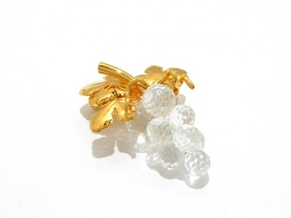 スワロフスキー ブローチ美品  スワロフスキークリスタル×金属素材 クリア×ゴールド