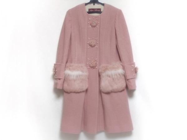 SUPERBEAUTY(スーパービューティー) コート サイズ40 M レディース美品  ピンク×白