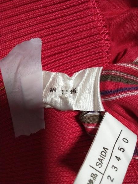レリアン 半袖Tシャツ サイズ9 M レディース新品同様  レッド×パープル×カーキ