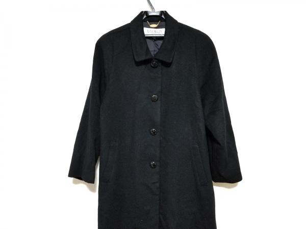 BALMAIN(バルマン) コート サイズ11 M レディース美品  黒 カシミヤ/冬物
