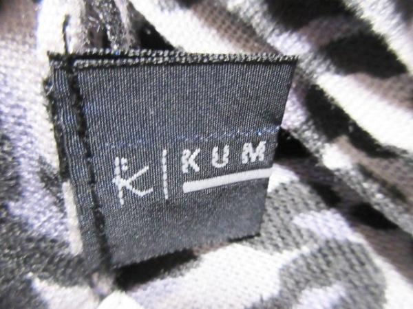組曲 KUMIKYOKU(クミキョク) ストール(ショール) 白×黒×パープル 豹柄 レーヨン