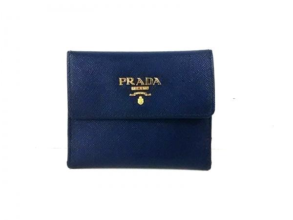 PRADA(プラダ) コインケース美品  - 1M1350 ネイビー レザー