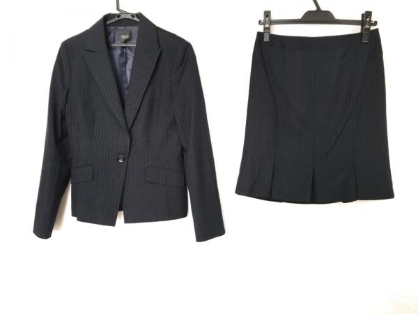 INDIVI(インディビ) スカートスーツ サイズ40 M レディース ダークネイビー×グレー