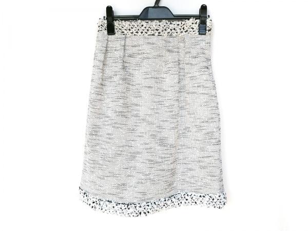 COTOO(コトゥー) スカート サイズ38 M レディース新品同様  白×黒 ツイード