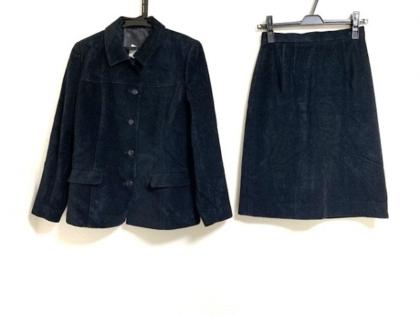 COURREGES(クレージュ) スカートスーツ サイズ9 M レディース美品  黒