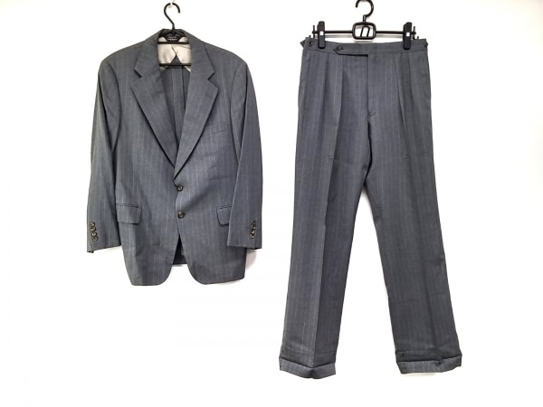 PaulStuart(ポールスチュアート) シングルスーツ メンズ ダークグレー×グレー×白