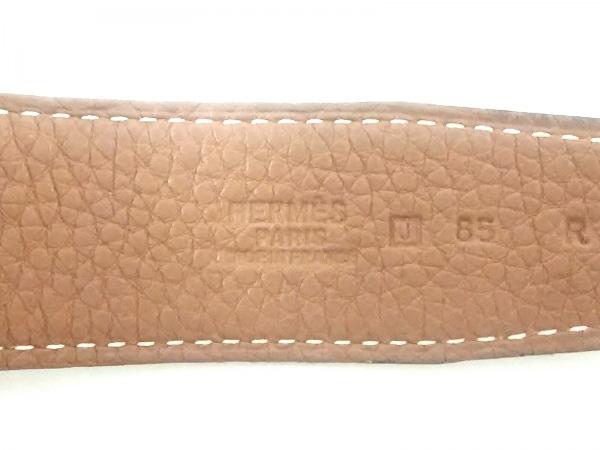 HERMES(エルメス) ベルト 85 Hベルト 黒 シルバー金具/新型 レザー