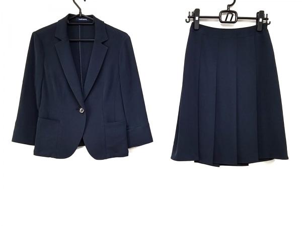NEW YORKER(ニューヨーカー) スカートスーツ サイズ7AR S レディース美品  ネイビー