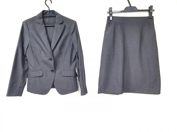 ニューヨーカー スカートスーツ サイズ7AR S レディース美品  ダークグレー