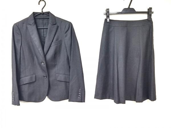 ニューヨーカー スカートスーツ サイズ7AR S レディース美品  ダークグレー×グレー