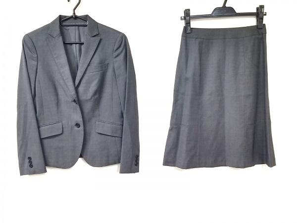 ニューヨーカー スカートスーツ サイズ7AR S レディース美品  黒×ライトブルー