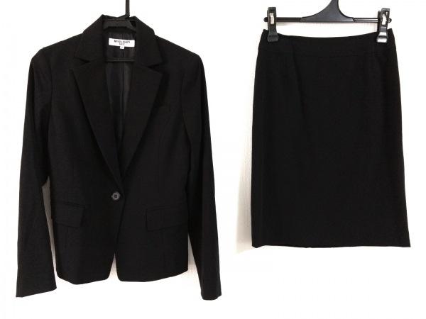 ナチュラルビューティー ベーシック スカートスーツ レディース美品  黒