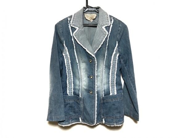 ROSSA(ロッサ) ジャケット サイズ42 L レディース美品  ブルー デニム/肩パッド