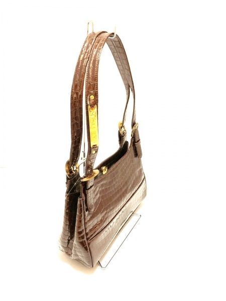 GIVENCHY(ジバンシー) ハンドバッグ美品  - ボルドー 型押し加工 エナメル(レザー)
