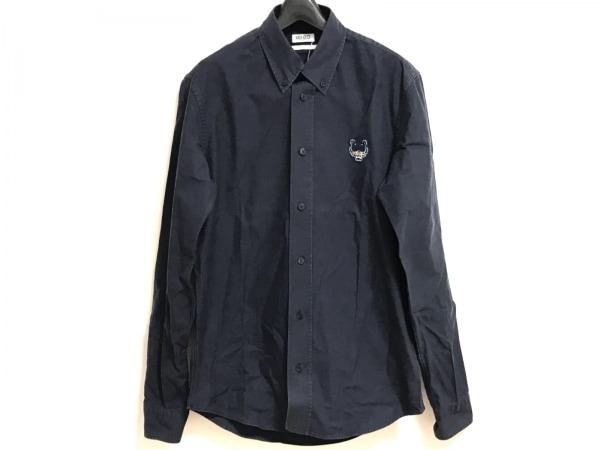KENZO(ケンゾー) 長袖シャツ サイズS メンズ ネイビー 刺繍