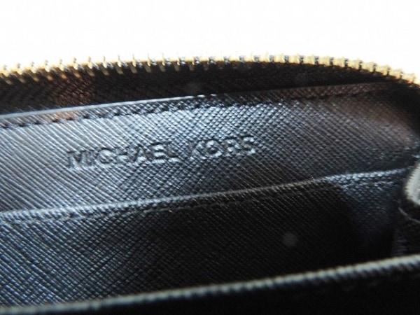 マイケルコース コインケース 黒 ラウンドファスナー レザー 4