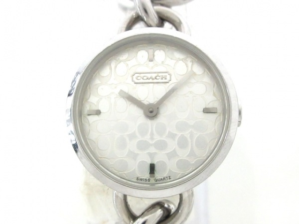 COACH(コーチ) 腕時計 ミニシグネチャー柄 CA.30.7.14.0387 レディース シルバー