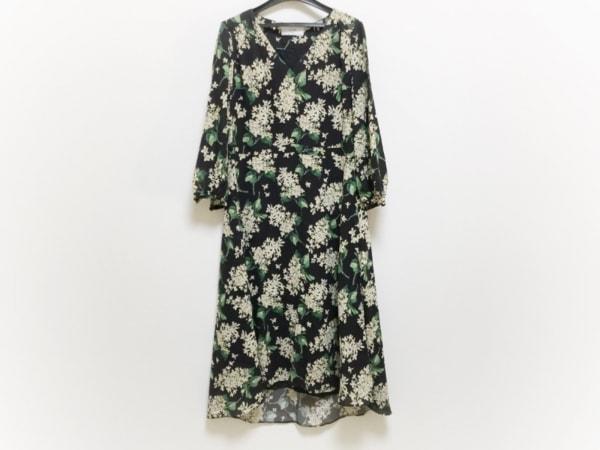 IENA SLOBE(イエナ スローブ) ワンピース レディース 黒×イエロー×グリーン 花柄