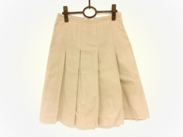 PRADA(プラダ) スカート サイズ40 M レディース ベージュ タック
