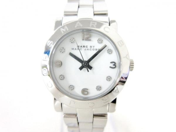 マークジェイコブス 腕時計美品  - MBM3055 レディース ラインストーン 白