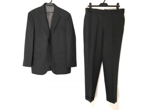J.PRESS(ジェイプレス) シングルスーツ メンズ ダークグレー 肩パッド/ネーム刺繍