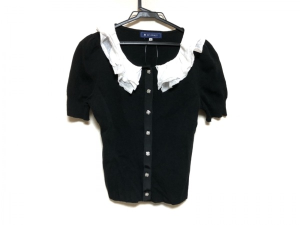 M'S GRACY(エムズグレイシー) 半袖シャツブラウス サイズ40 M レディース美品  黒×白