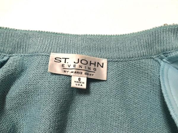 ST.JOHN(セントジョン) スカートスーツ レディース ライトブルー ジップアップ